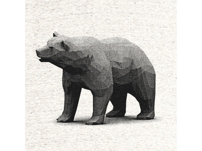 """Bear"" Shirt (One Day Left) big bear halftone bear shirt polygonal poly 3d render animal cotton bureau lowpoly cottonbureau"