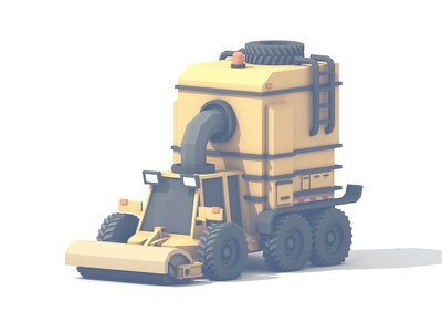 Street Sweeper utility vehicle 6x6 clean streets utility tires vehicle truck c4d model render 3d street sweeper