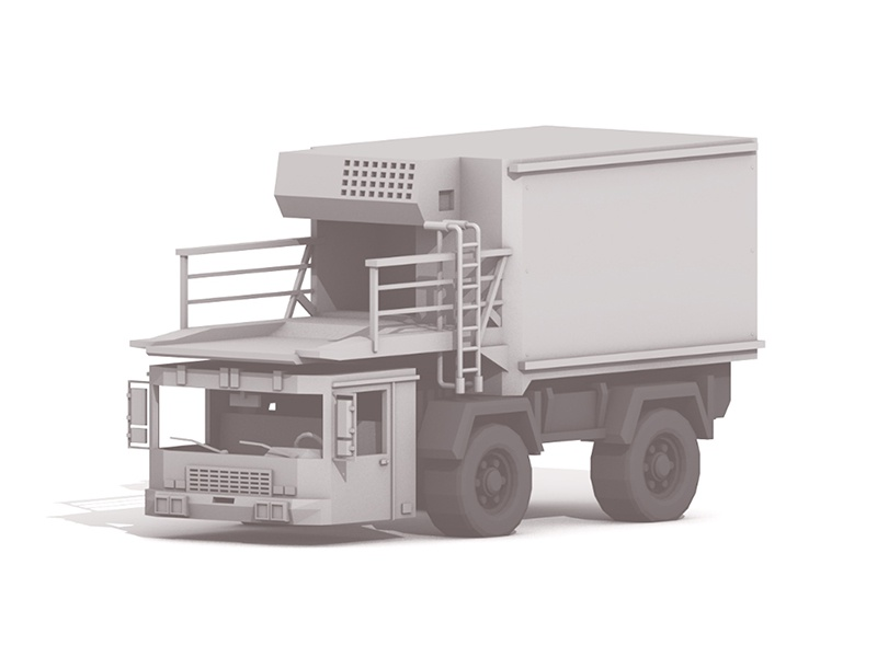 Airport Luggage Truck cab wheels tires utility luggage cinema 4d c4d render 3d truck airport