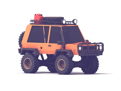 SUV #4 4x4 adventuremobile brush guards vehicle c4d render 3d gas tank tires snorkel truck suv