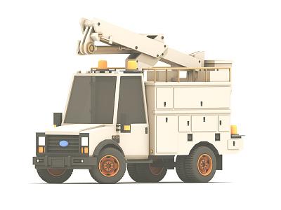 Work Truck cinema 4d c4d render 3d heavy duty truck machine vehicle utility work truck
