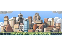 Talkabot Conference Skyline Mural