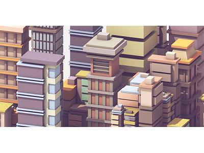 City Study cinema 4d c4d skyscrapers downtown architecture render 3d buildings city