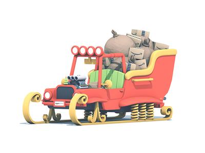 Amazon Vehicles Santa's Sleigh christmas v8 engine cargo shocks skis santas sleigh santa sleigh vehicle amazon amazon vehicles