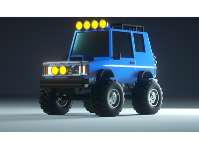 SUV (Collaboration) 4x4 tires collaboration utility rugged suv truck model c4d render 3d octane