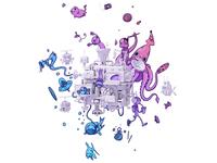 "TwitchCon ""Ticket Announcement"" Illustration"