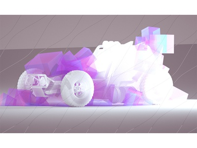 Car (First Octane Test) lighting cinema 4d racing cubes light tire car c4d render 3d octane