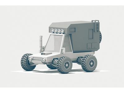 Drifter tires snorkel c4d render 3d model utility 4x4 truck camper vehicle