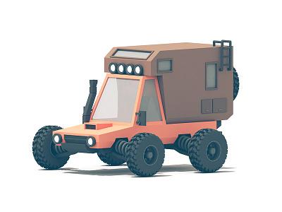 Drifter (update) c4d shocks fog lights camper 4x4 snorkel utility adventuremobile truck vehicle render 3d