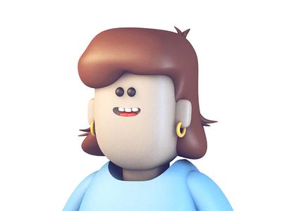 Susan woman person sweater cinema 4d c4d character female hair model render 3d susan
