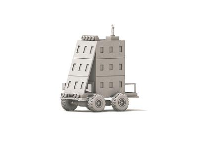 Building Truck cinema 4d architecture tires truck transportation 4x4 c4d render building car 3d vehicle