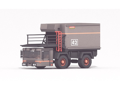 Luggage Truck cab storage cargo transportation work luggage truck luggage airport utility truck vehicle