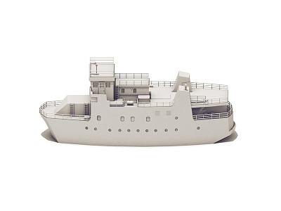Ship sea model illustration cinema 4d c4d render 3d vessel boat ship