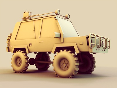 SUV #3 truck suv render 3d c4d cinema 4d ao vehicle concept utility tires clay 4x4 snorkel brush guards gas tank 4wd