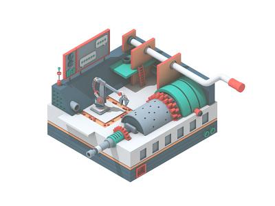 Gridspace cinema 4d 3d art illustration tech audio machine model c4d render 3d gridspace