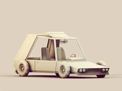 Racer 3d render parallel lowpoly low poly car racer machine vehicle tires wheels c4d cinema 4d ao stylized illustration model