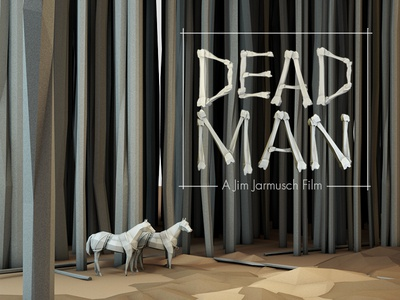 Dead Man [November SSS] 3d render horse dead man trees forest woods horses movie film lowpoly low poly ground landscape story model c4d cinema 4d ao jim jarmusch