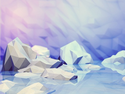 Icebergs iceberg render model 3d c4d cinema 4d ao ice icy cold water ocean icebergs light cool lowpoly low poly