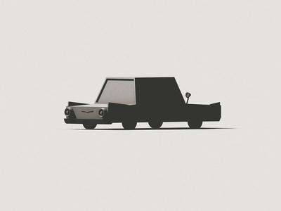 T-Bird c4d wheels auto card vehicle car rendering shadows render 3d thunderbird tbird light