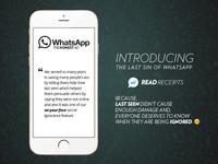 WhatsApp Read Receipts - The Honest Ad