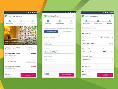 Mobile Checkout Flow design minimal travel ux ui transaction mobile payment checkout