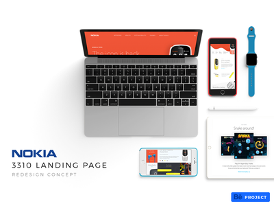 Coming Soon: Nokia 3310 Landing Page Redesign Concept 3310 mobile interactive minimal flat concept redesign ux ui page landing nokia