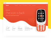Nokia 3310 Landing Page Redesign Concept