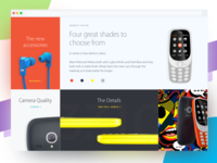 Blocks - Nokia 3310 Landing Page Redesign Concept