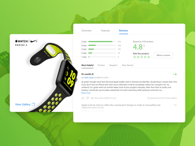 Apple Watch Product Card - Reviews web minimal flat ux ui concept card product watch apple