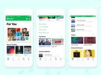 Saavn apple music style concept   full preview