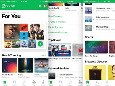 Saavn iOS App Concept [Apple Music Inspired] reduction complex ui app iphone audio player minimal concept saavn music apple