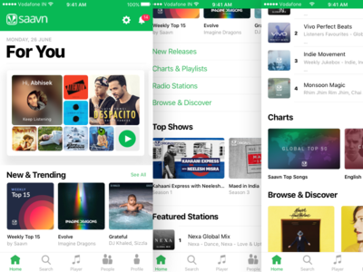 Saavn iOS App Concept [Apple Music Inspired]