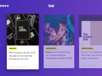 Designtaxi homepage   active card hover