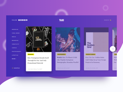 Design Taxi Homepage Concept homepage shadow cards flat minimal ux ui design taxi concept