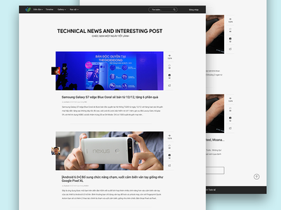Tinhte.vn Redesign technical website ui theme homepage clean tinhte
