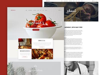 Newfood's Luxury Restaurant Website