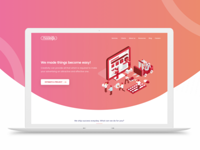Agency website - Isometric Style website web responsive process page mobile layout landing isometric illustrations homepage agency