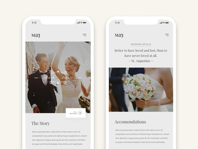 Wedding & Wedding Planner cowndown kiss modern plan ui ux layout clear clean wedding