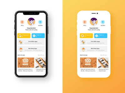 Gamification Coffee App gamification orange ui coffee interface vietnam uxui app