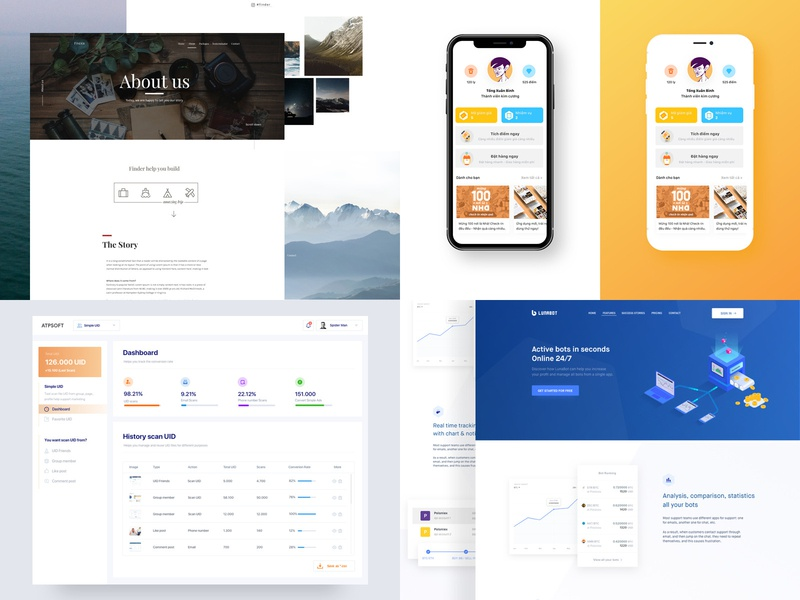 2018 - Summary clear homepage landingpage design web user experience website clean