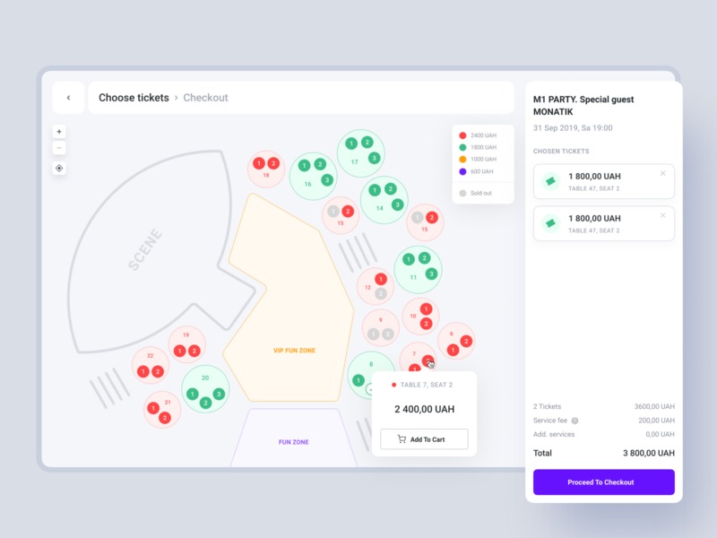 Two-sided event platform from Syndicode web app product design user interface user experience ux ui tickets system management event elements web dashboard concert