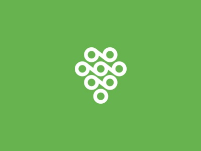 Wine logo modern green wine geometric simple branding identity mark logo