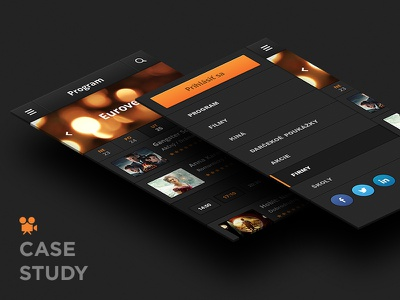 Cinema reservations (CS) cinema reservations tickets case study cs app mobile dark orange motion animation