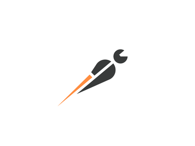 RocketFast logo brand mark symbol concept rocket fast staff transport work job quick