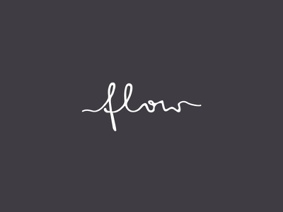 flow logo logotype mark brand flow water custom typography handwritten