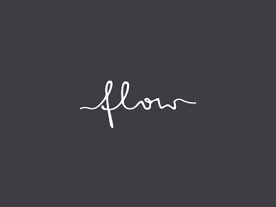 flow logo logotype mark brand flow water custom typography handwritten