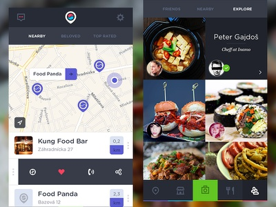 Foodie app ios food korean asian foodie gourmet social photo map place people