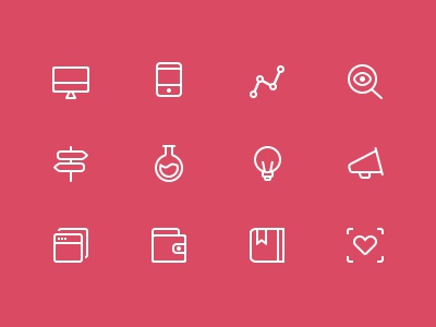 pcns (icon set) icon icons line stroke glyph simple pictogram set services platform digital