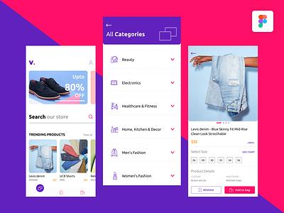 Ecommerce App - UI Exploration cart app online figma retail inspiration ux ui shopping karti392