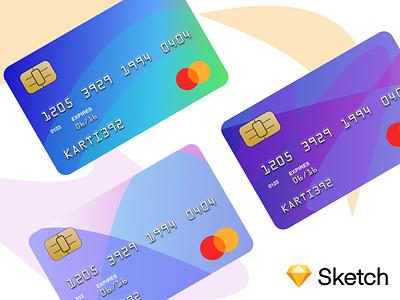 Credit card template - Sketch freebie freebie sketch illustration gradient design card layout karti392 interface ui mastercard credit card